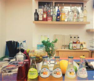 I prodotti Sanpellegrino usati durante il corso di Mix Art